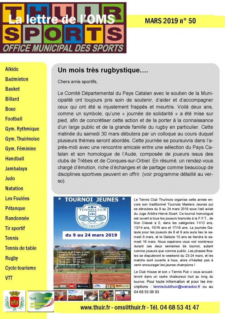 La lettre n° 50 Mar 2019-page-001