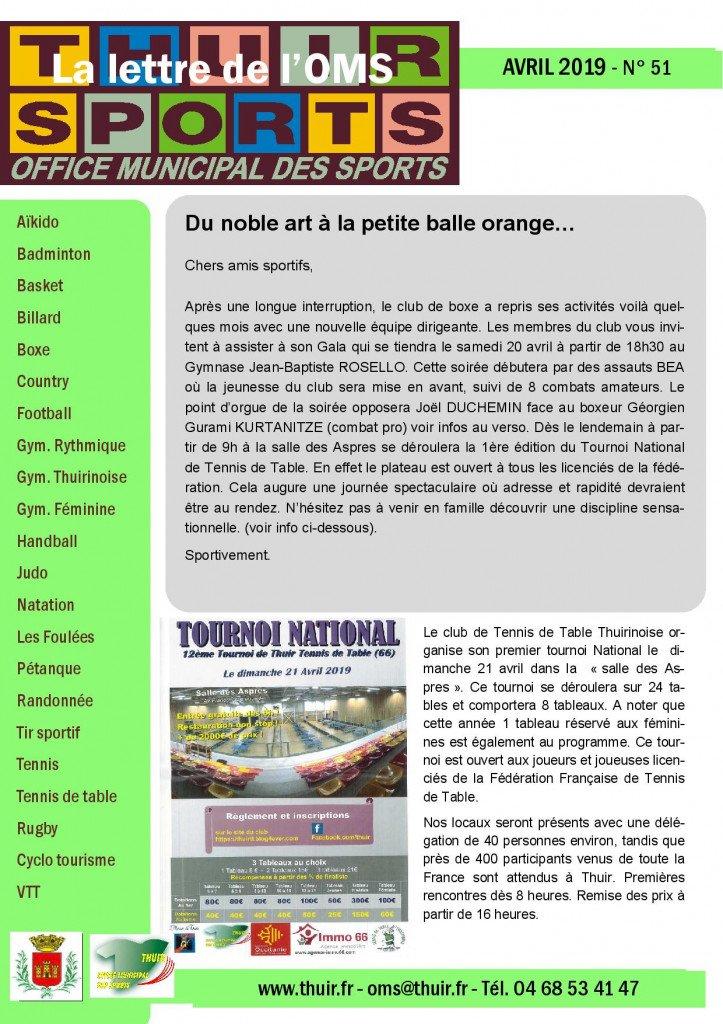 La lettre n° 51 Avr 2019-page-001